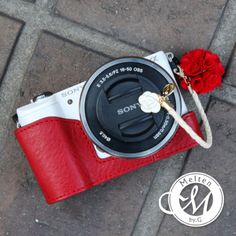 Melten-Sony-a5000-a5100-Red-Half-Case-Natural-leather-Luxury-handmade