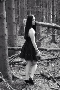 forest dress shoot