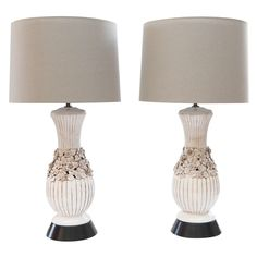 Pair Blanc de Chine Lamps | From a unique collection of antique and modern table lamps at https://www.1stdibs.com/furniture/lighting/table-lamps/