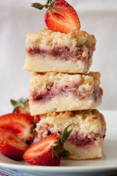 strawberry crumb bars.  cany you stay for dinner? Her story is motivational.