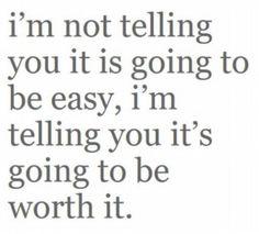 Determination, I love it!