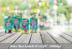 Trolls Juice Box Labels Trolls Juice Box Wraps Printable
