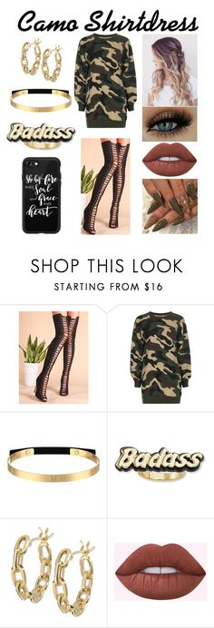 """""""Camo Shirtdress"""" by xcoordinatingfashionx ❤ liked on Polyvore featuring WithChic, Steve Madden, TILDA BIEHN and Casetify"""