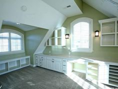 Love love love that desk and storage space. The natural light is not too shabby either!