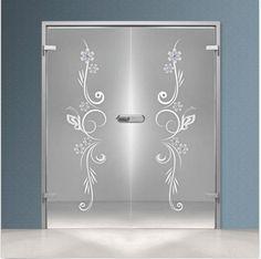 Interior Swing Glass Door / Transparent Glass Curved Lines Design glass-door.us Double Glass Doors, Curved Lines, Glass Design, Line Design, Floral Design, Gemstones, Interior, Home Decor, Houses