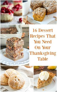 16 Dessert Recipes That You Need On Your Thanksgiving Table