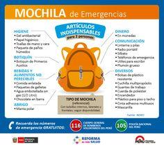 Mochila de supervivencia en caso de terremoto | Alerta Ambar