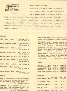 1988 Annual Sale Ad #loosetea #svtea http://www.svtea.com/