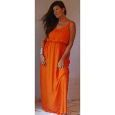 PRE-ORDER - Sexy Shimmy Strappy Maxi Dress (Orange) $56.00 http://www.curvyclothing.com.au/index.php?route=product/product&path=95_97&product_id=9635