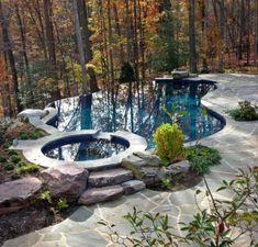 Natural Pool Ideas On Home Backyard 5 image is part of 60 Fabulous Natural Small Pool Design Ideas to Copy on Your Backyard gallery, you can read and see another amazing image 60 Fabulous Natural Small Pool Design Ideas to Copy on Your Backyard on website Backyard Pool Designs, Small Backyard Landscaping, Ponds Backyard, Swimming Pool Designs, Infinity Pool Backyard, Backyard Ideas, Landscaping Ideas, Kids Swimming, Infinity Edge Pool