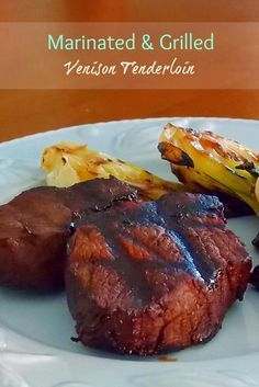 Grilled Venison Marinade - and a camera giveaway! - Grumpy's Honey Bunch