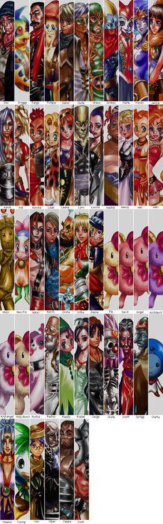 Chrono Cross menu art