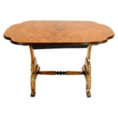 19th Century French Satinwood Marquetry Single Drawer Tea Table With Ormolu Mounts