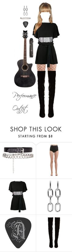 """Performance Outfit - #1"" by afetgatter ❤ liked on Polyvore featuring Rock Rebel, GCDS, Toga, CO, Alexander Wang and Christian Louboutin"