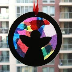 "momstown Calgary: Toddler ""Stained Glass"" Angel Craft"