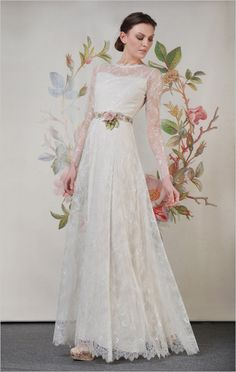 Charlotte gown from Decoupage, the Spring 2014 bridal collection by Claire Pettibone