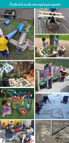 Classrooms with more play and movement, classrooms with more meaningful learning ideas to learn by playing in the schoolyard, Outdoor Games, Outdoor Fun, Outdoor Activities, Activities For Kids, Outdoor Learning Spaces, Outdoor Education, Natural Playground, Outdoor Playground, Backyard Play