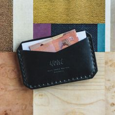 Description Details Care   Thin and simple wallet with two compartments. For bank or credit cards (max. of 8), business cards, and banknotes. Categorize you...