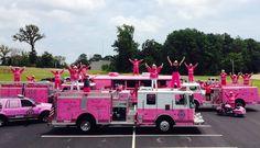 Photo from Pink Heels, Inc. Pink Truck, Female Firefighter, I Believe In Pink, Custom Guns, Childhood Cancer, Childrens Hospital, Pink Princess, Fire Engine, Fire Trucks