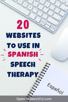 A list of quality Spanish websites to teach speech therapy. They make great resources for bilingual speech pathologists teaching working with students via teletherapy.  - Speech is Beautiful #speechisbeautiful #teletherapy #bilingualspeechtherapy #spanishspeechtherapy #spanishwebistes