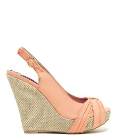 PURCHASED - This Coral Glory Slingback Wedge by Qupid is perfect! #zulilyfinds