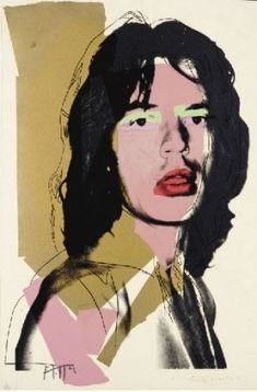 Andy Warhol No. 1 from Mick Jagger 1975 from a series of ten colour screenprints. Andy Warhol (United States of America Andy Warhol Bilder, Andy Warhol Obra, Andy Warhol Artwork, Warhol Paintings, Andy Warhol Portraits, Mick Jagger, Jade Jagger, Roy Lichtenstein, Art Pop