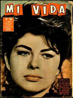 Rare magazine MI VIDA edited in Chile, South America, December 12nd., 1963. Soraya on the cover.