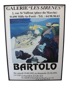 1992 Galerie Les Serine Poster by Bartolo on Chairish.com