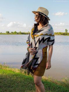 ASOS hat, Zaful Scarf, LOFT skirt - The Vagabond Wayfarer