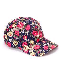Look at this Love, Kuza Navy Rose Baseball Cap on #zulily today!