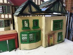Antique Dollhouse, Doll Houses, Restoration, Miniatures, Dolls, Antiques, Outdoor, Baby Dolls, Antiquities