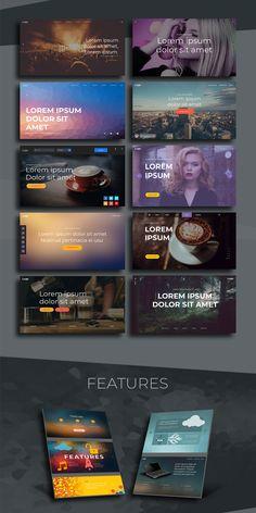 Fangorn - UI PSD Template Website Design Inspiration, Ui Kit, Psd Templates, Lorem Ipsum, Photoshop, Grief