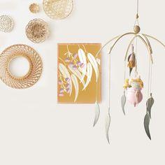Gumnut Baby | Nursery Mobile | birdynumnumDesignCo | madeit.com.au Animal Nursery, Girl Nursery, Girl Room, Baby Room, Nursery Themes, Nursery Decor, Themed Nursery, Australian Nursery, Diy Crafts For Gifts