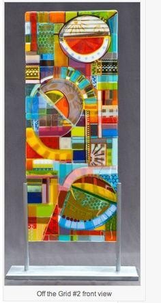 When every color is your favorite- Off the Grid kiln formed glass panels / Studio 200 Glass Art Of Glass, Glass Wall Art, Fused Glass Art, Stained Glass, Mosaic Art, Mosaic Glass, Mosaics, Kiln Formed Glass, Glass Design