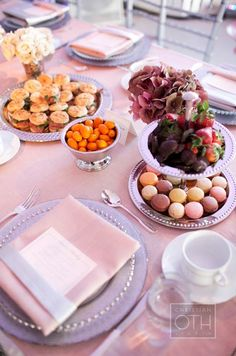 Mary Giuliani created a menu of small bites for the afternoon tea party reception.