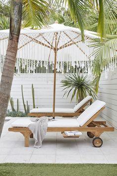 Outdoor Pool, Outdoor Spaces, Outdoor Decor, Outdoor Loungers, Indoor Outdoor Living, Living Pool, Tropical Backyard, Tropical Decor, Greenhouse Interiors