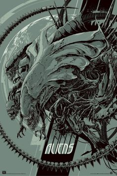 The Aliens prints were done by Ken Taylor