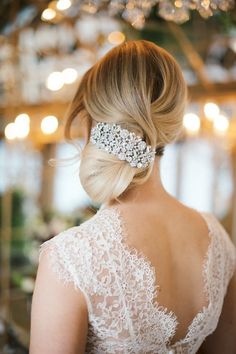 Low Bun Upstyle | Wedding Hair Inspiration | Bridal Musings Wedding Blog 3