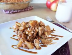 Apples mixed with coconut sugar in an Almond flour crust and topped with Streusel makes this Paleo Dutch Oven Apple Pie Recipe a tasty treat!