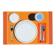 Placemat setting laminated placemat