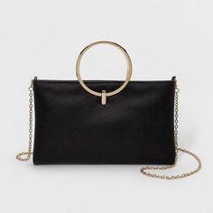 9954940e76 Estee   Lilly Ring Handle Clutch - Target Handbag Black Clutch Purse