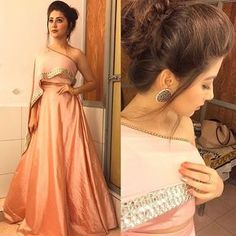 night for Gold awards ✨ Styled by: Outfit by: Earings by: Indian Designer Outfits, Indian Outfits, Designer Dresses, Indian Attire, Mehndi, Stylish Dresses, Fashion Dresses, Trendy Outfits, Indian Gowns Dresses
