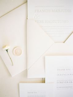 Stylish White Wedding in Bali via OnceWed.com