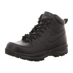 NEU: Nike Sneaker Stiefeletten ManoaLeather - 454350 003 - black/black-black -