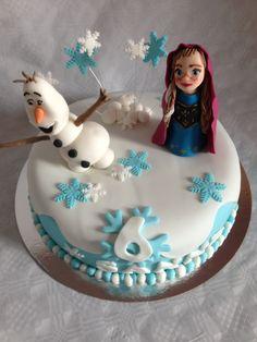 Frozen Taart/Anna en Olaf