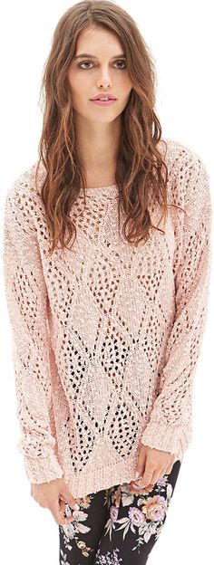 Forever 21 Open-Knit Pom Pom Sweater on shopstyle.com