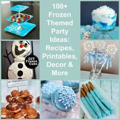frozen diy party ideas | 100+ Disney Frozen Themed Party Ideas: Food, Decorations, Printables ...
