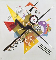 Titre de l'image : Vassily Kandinsky - On Weiss II.