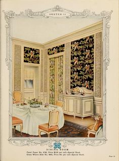 Dining Room :: Home decoration, 1917 / Alfred Peats Co.