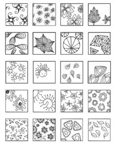 ZENTANGLE PATTERNS floating 1 | Flickr - Photo Sharing!